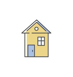 House rgb color icon vector