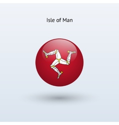 Isle of Man round flag vector image