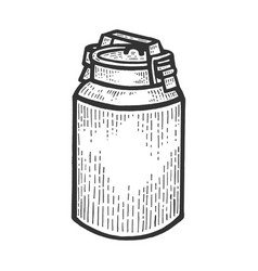 large milk can sketch engraving vector image