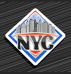 logo for nyc vector image