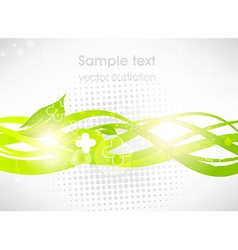Luminous Green Curved Lines Background vector