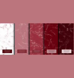 Marble collection abstract pattern texture vector