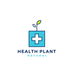 medical health plant sprout leaf logo icon vector image
