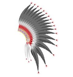 Mohawk hat american indians vector