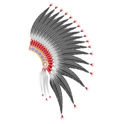 Mohawk hat of the american indians vector