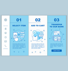 Online shopping onboarding mobile web pages vector