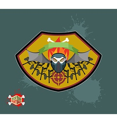 paintball emblem club Wings of fire and paintball vector image