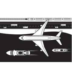 passenger transportation land air and se vector image