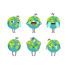 pollution planet character vector image