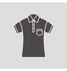 Polo t-shirt icon vector image