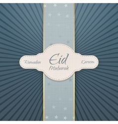 Ramadan Kareem Eid Mubarak festive Badge vector