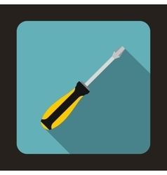 Screwdriver icon in flat style vector image