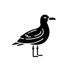 seagull black glyph icon vector image