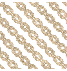 Seamless nautical rope pattern square knot vector