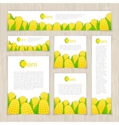 Set of Corn Banners vector