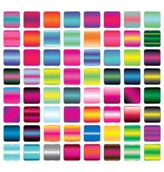set vibrant gradient button icons vector image