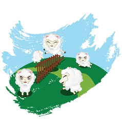 Sheep Jumping vector image