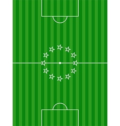 Soccer football pitch and stars background vector image