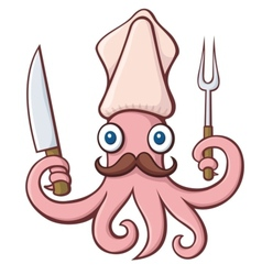 squid chef vector image