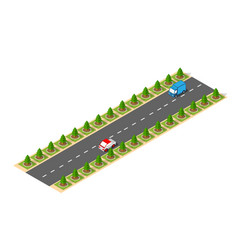 suburban high-speed isometric vector image