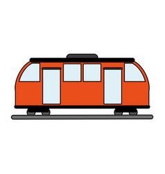 Train wagon design vector