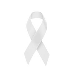 white ribbon band vector image