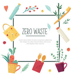 zero waste concept design with elements vector image
