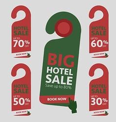 Big Hotel Sale badge sticker label or tag vector image