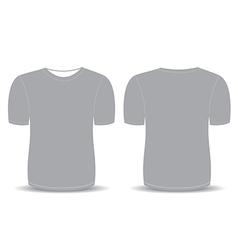 Blank t shirt gray template vector