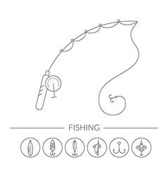Fishing Gear vector image vector image