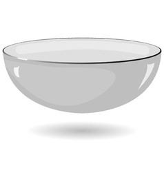 metal bowl on a white background vector image vector image