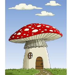 mushroom house vector image vector image