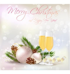 new year card champagne vector image vector image
