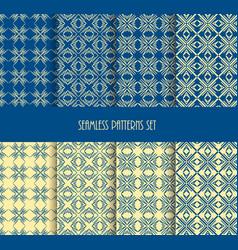 repeatable geometric style stylish blue yellow vector image vector image