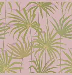 tropical palm leaves seamless pattern vector image vector image