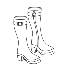 Women boots icon outline style vector image vector image