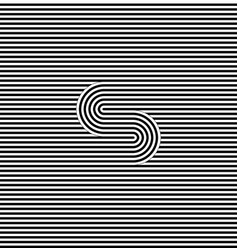 curved striped seamless pattern vector image vector image