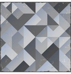 Monochrome retro geometric background vector image vector image