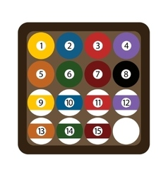 Pool billiard balls rack commonly used starting vector image vector image