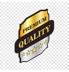 square label premium quality isometric icon vector image vector image