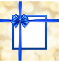 blue ribbons and bow vector image vector image