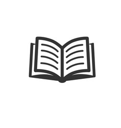 Book icon isolated on white vector