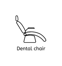dentist chair simple icon in outline style vector image vector image