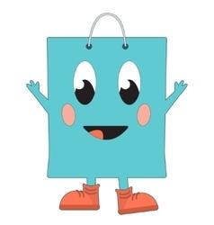 Happy shopping bag vector image vector image