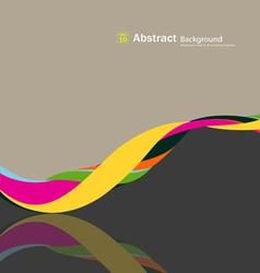 Abstract fabric rolls multicolored spiral vector image vector image