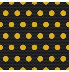 Gold polka dots seamless pattern vector image vector image