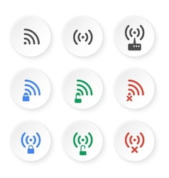 Set of icons of wireless connections vector image