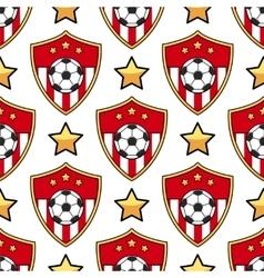 Sport seamless pattern soccer vector image
