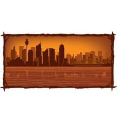 sydney australia skyline vector image vector image
