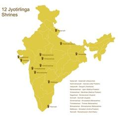12 jyotirlingas vector